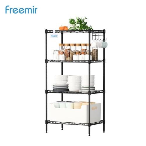 Foto Produk Freemir Rak Susun Besi 4 Tingkat Storage Rack Kamar Tidur Dapur dari freemir Official Store