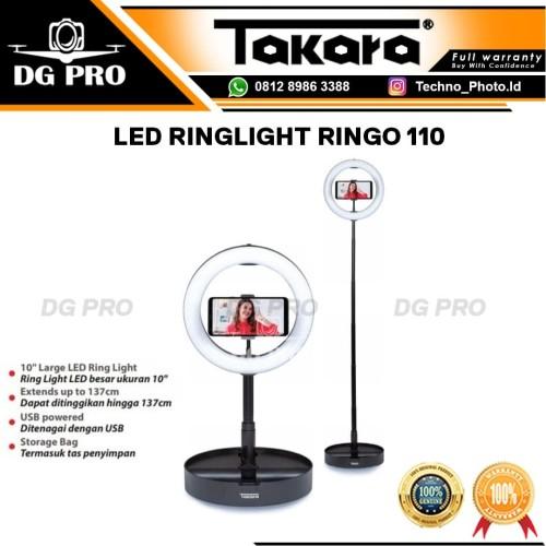 Foto Produk TAKARA LED RINGLIGHT RINGO 110 / RING LIGHT VLOG SMARTPHONE dari DG PRO