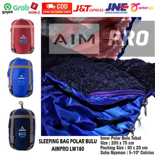 Foto Produk AIMPRO SLEEPING BAG POLAR BULU TEBAL SELIMUT HIKING CAMPING LW180 - RANDOM COLOR dari AIMPRO