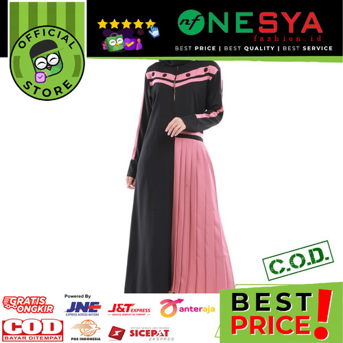 Foto Produk Garsel Fashion ~ Gamis Wanita / Gamis Muslim ~ GSN 0251 - Hitam, XL dari nf_nesyafashion