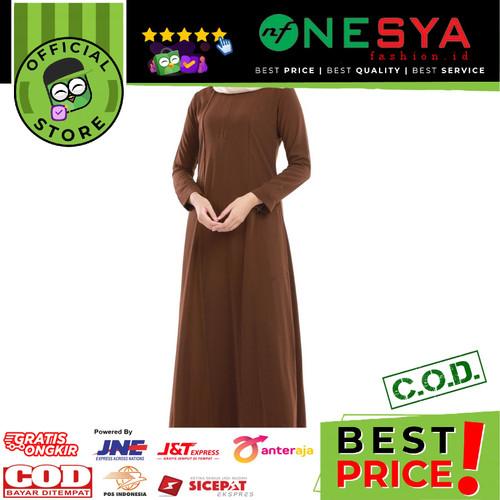 Foto Produk Garsel Fashion ~ Gamis Wanita / Gamis Muslim ~ FIU 0283 - Cokelat, XL dari nf_nesyafashion