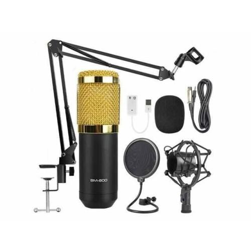 Foto Produk BM800 ORIGINAL Full Paket recording Microphone Condenser Live - Hitam dari Mix acc88