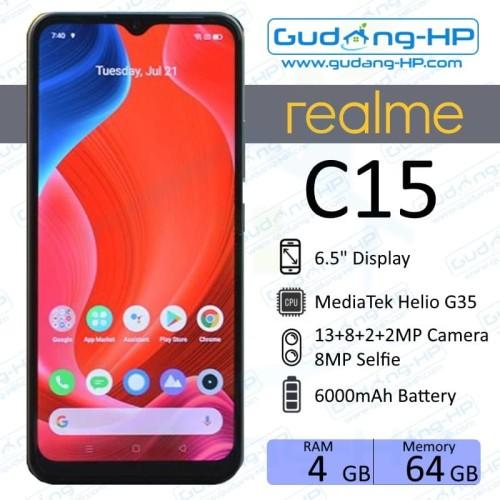 Foto Produk Realme C15 4/64 GB Garansi Resmi - Silver dari Gudang-HP
