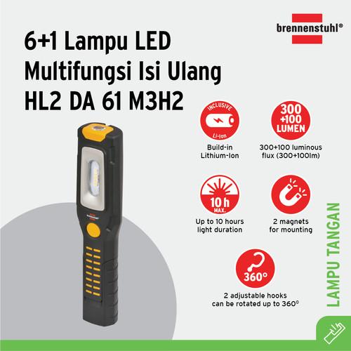 Foto Produk Brennenstuhl Senter 6+1 Lampu LED Isi Ulang HL2 DA 61 M3H2 - 1175670 dari Brennenstuhl Indonesia