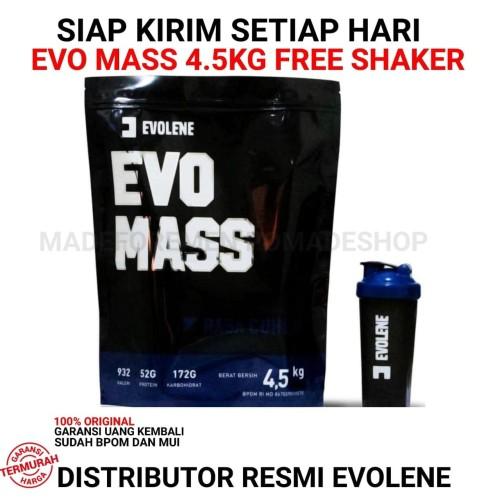 Foto Produk Evolene EvoMass 10 Lbs 4.5 kg Evo Mass Gainer 10Lbs 4,5kg SUDAH BPOM dari madeformen