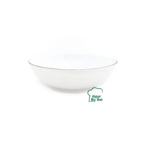 Foto Produk 1Pc Mangkok SOTO CEPER LIST EMAS Ukuran 7Inch/Mangkuk Keramik dari Dapur Ny.Bun
