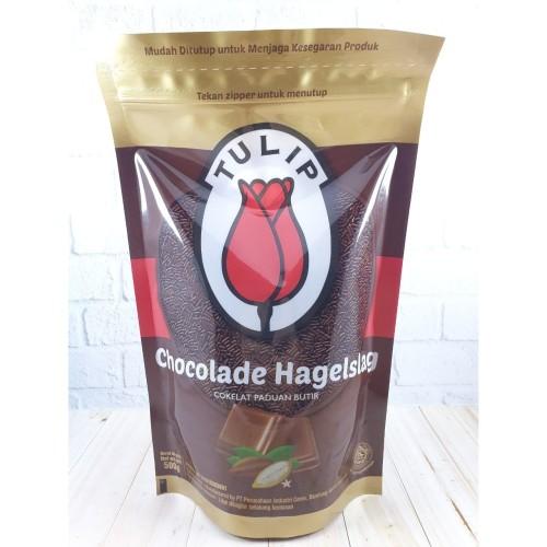 Foto Produk Meses Tulip 500Gr Ziplock Chocolade Hagelslag dari Dua Kencana