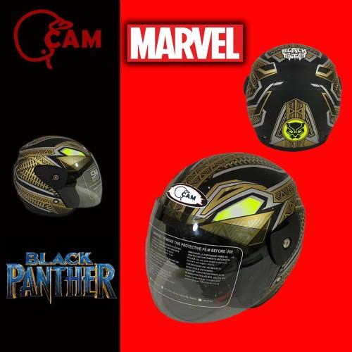 Foto Produk Helm Motor Evolution black panther Gold SNI bukan GM dari Boss helm