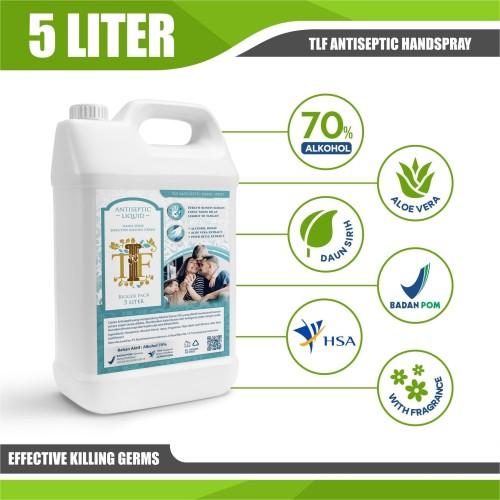 Foto Produk TLF Hand Sanitizer 5 Liter Antiseptik Lisensi BPOM & HSA & Halal dari GDM Official Store