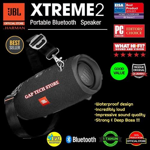 Foto Produk JBL Xtreme 2 / Xtreme2 Waterproof Portable Bluetooth Speaker Original - Hitam dari GAP TECH STORE
