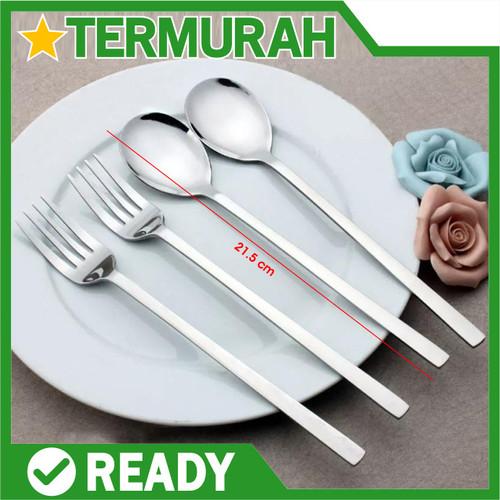 Foto Produk Sendok garpu korea stainless sujeo set makan spoon fork steel sus 304 - SENDOK dari Kastil Drakula