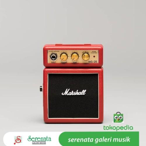 Foto Produk Marshall MS 2 Red Mini Guitar Ampli / Marshall MS2 Red dari Serenata Galeri Musik