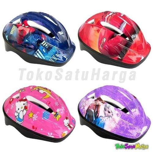Foto Produk Helm Sepeda Anak Karakter Motif Kartun Sepatu Roda Pelindung Kepala Da dari KOBUCCA SHOP