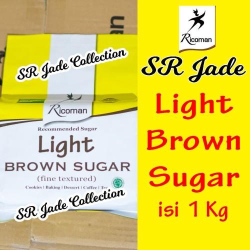 Foto Produk Ricoman Light Brown Sugar 1Kg Gula dari SR JADE COLLECTION