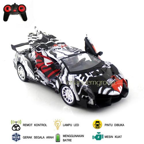 Foto Produk Mainan Mobil Remot Kontrol RC Super Racing Buka Pintu - Hitam dari Mafemale