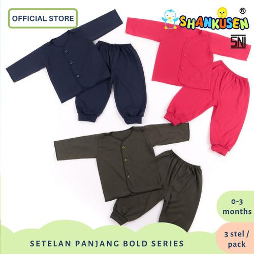 Foto Produk Setelan Baju Bayi Panjang Shankusen Bold Series (3 stel newborn) dari Shankusen Baby Official