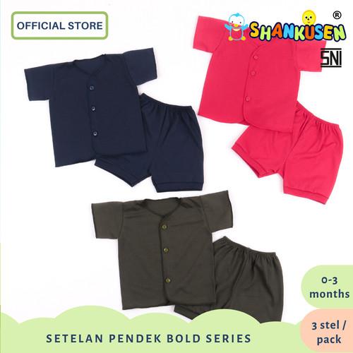 Foto Produk Setelan Baju Bayi Pendek Shankusen Bold Series (3 stel newborn) dari Shankusen Baby Official