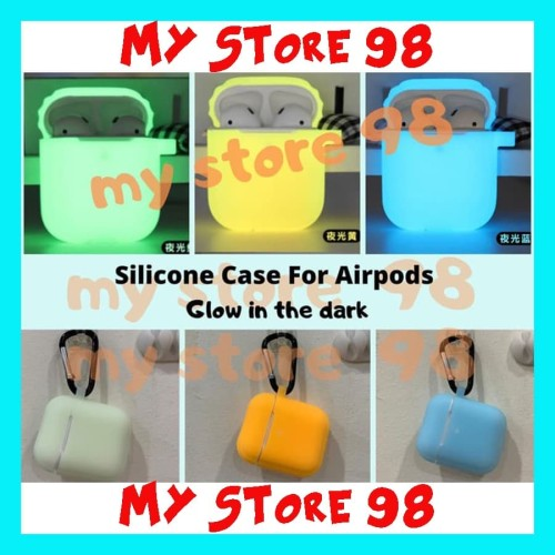 Foto Produk Silicone Case For Airpods Glow in the dark Silikon Airpods Plus Hook - Kuning dari My Store 98