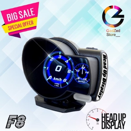 Foto Produk Head Up Display HUD OBD2 SPEEDOMETER DIGITAL OBD II F8 RPM DISPLAY dari GadZed Store