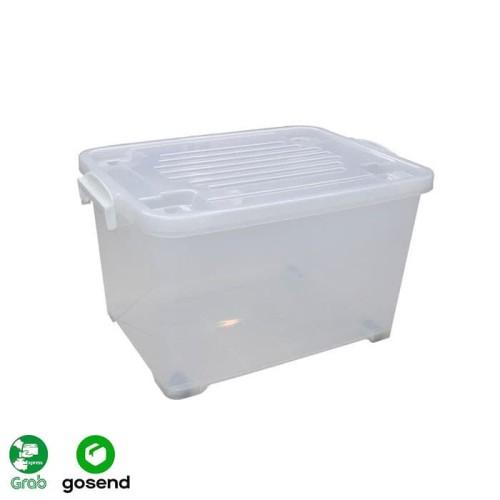 Foto Produk KIRAMAS Container Box Transparan 50 Liter 1038 AR (By Gojek / Grab) dari Megacell 888