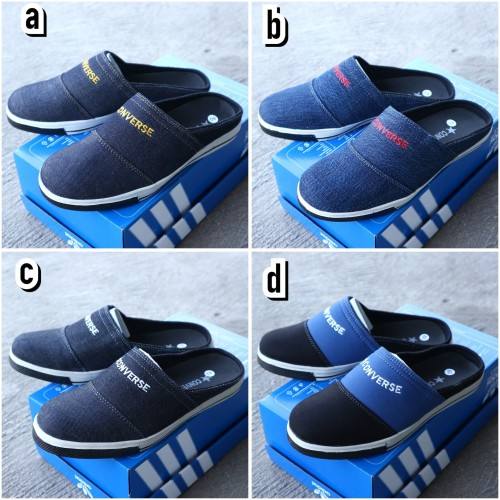 Foto Produk sepatu sandal slop nike casual pria / nike slip on denim cowok dari KuyindShop