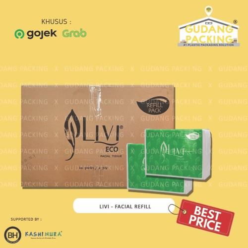 Foto Produk (GOSEND/GRAB) LIVI - Tissue Eco Facial Refill 600's - Dus dari Gudang Packing