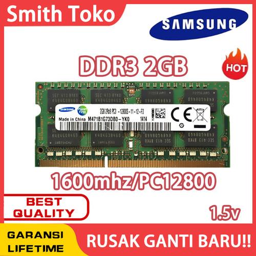 Foto Produk samsung Ram laptop SODIMM DDR3 2GB 1600MHZ/12800&1333MHZ/10600 - 2GB 1600MHZ dari SmithToko