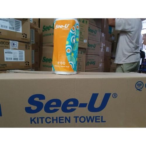 Foto Produk Tissue Dapur See-U Classic Kitchen Towel Roll Tisu Kitchen 1 Roll dari tokobaru_official