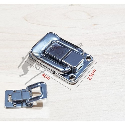Foto Produk Kaitan Koper kotak / Kaitan Peti / Overval Kunci Segi 1 inch Chrome dari Best Corner