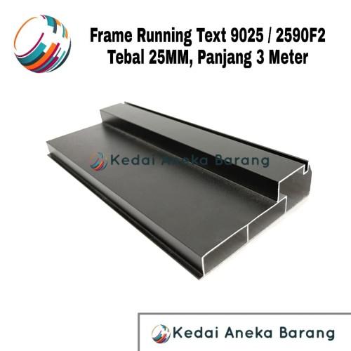 Foto Produk Frame Running Text 9025 2590F2 2590 F2 Casing Aluminium Outdoor 3M dari Kedai Aneka Barang