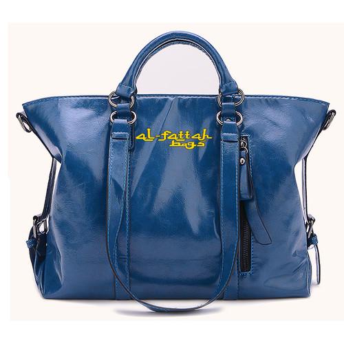 Foto Produk Tas wanita import Tas wanita fossil tas zara basic murah AF063 Navy - Biru dari BarakAllah Store