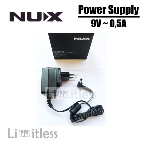 Foto Produk Adaptor Efek Gitar Nux 9V 0.5A Power Supply Adapter Effect ACD-006A dari Limit-less Store