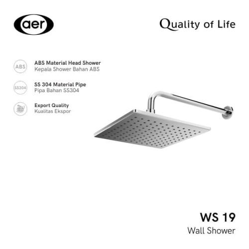 Foto Produk AER Shower Tembok / Wall Shower WS-19 dari AER Sanitary Indonesia