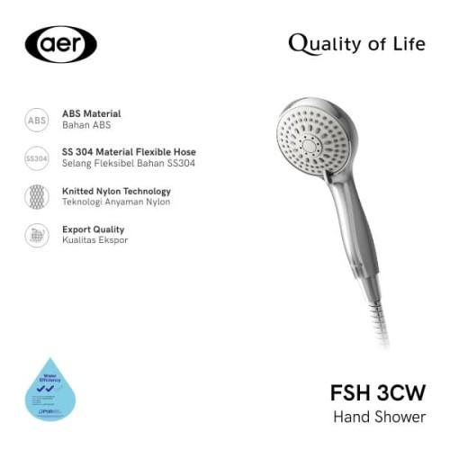 Foto Produk AER Shower Mandi / Hand Shower FSH-3CW dari AER Sanitary Indonesia