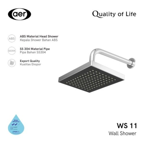 Foto Produk AER Shower Tembok / Wall Shower WS-11 dari AER Sanitary Indonesia