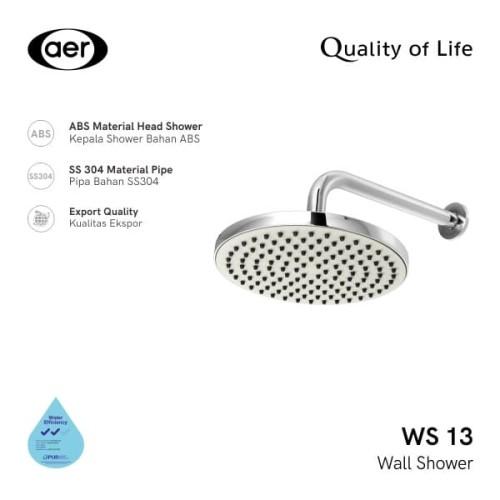 Foto Produk AER Shower Tembok / Wall Shower WS-13 dari AER Sanitary Indonesia
