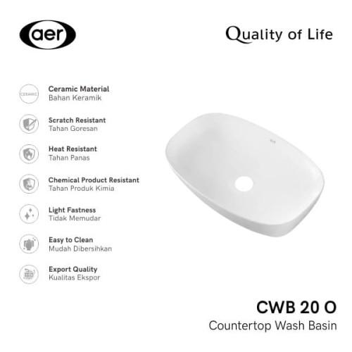 Foto Produk AER Washbasin / Wastafel CWB 20 O dari AER Sanitary Indonesia