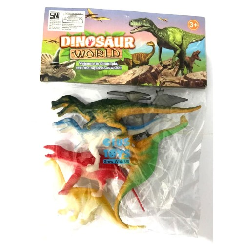 Foto Produk Mainan Dinosaurus World 6 pcs | Binatang Dino Karet Kantong dari ciustoys