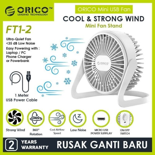 Foto Produk ORICO FT1-2 USB Mini Desk Fan dari ORICO INDONESIA