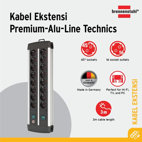Foto Produk Brennenstuhl Premium-Alu-Line Technics 16-Soket Duo -1391000916 dari Brennenstuhl Indonesia