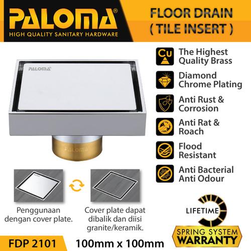 Foto Produk PALOMA FDP 2101 Floor Drain Strainer Saringan Got Kamar Mandi Anti Bau dari PALOMA HARDWARE
