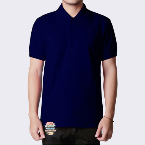 Foto Produk Kaos Polo Shirt Kerah Navy Dongker-Ungu Tua-Fanta, uk S,M,L,XL,XXL,3XL - Biru Navy, S dari poloshirtbasic