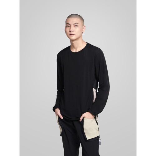 Foto Produk Kaus Pria Lengan Panjang resilen Essentials Long Sleeves T-Shirt Black - M dari resilen