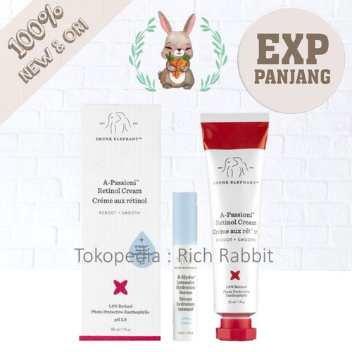 Foto Produk Drunk Elephant A-Passioni / A Passioni Retinol dan Peptides Cream Muka dari Rich Rabbit