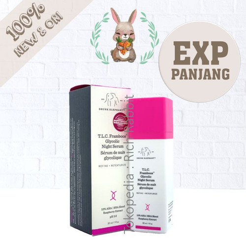 Foto Produk Drunk Elephant T.L.C. Framboos™ Glycolic Night Serum 30 ml TLC dari Rich Rabbit