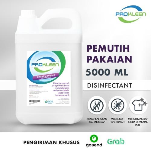 Foto Produk Pemutih Noda Pakaian Disinfectant PREMIUM PROKLEEN 5L GOSEND/GRAB dari United Cleaning Official