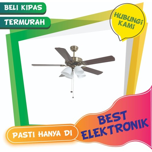 Foto Produk Kipas Angin Baling Dekorasi Plafon MT Edma Royal Plus 52inch 4 Lampu dari Best Elektronik