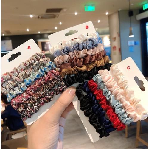 Foto Produk IK23 Ikat Rambut Scrunchie Korea Set 6 Pcs - korea B dari Dneo Store