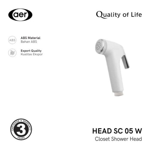 Foto Produk AER Kepala Shower Kloset / Closet Shower SC 05 W Head dari AER Sanitary Indonesia