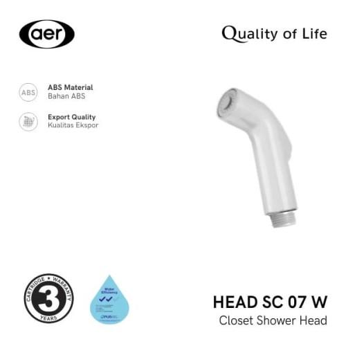 Foto Produk AER Kepala Shower Kloset / Closet Shower SC 07 W Head dari AER Sanitary Indonesia